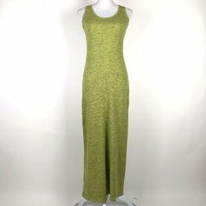 Omgirl Sheath Dress Green Waffle Knit Chartreuse